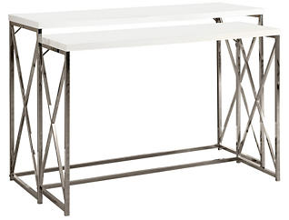 Jo Nesting Console Table, White, , large
