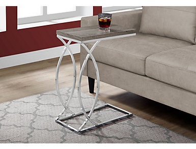 Galvin Dark Taupe Accent Table, , large