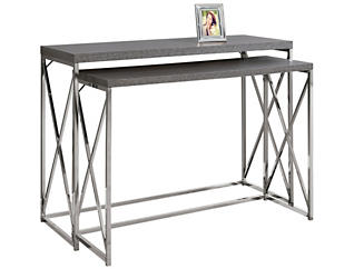 Jo Nesting Console Table, Grey, , large