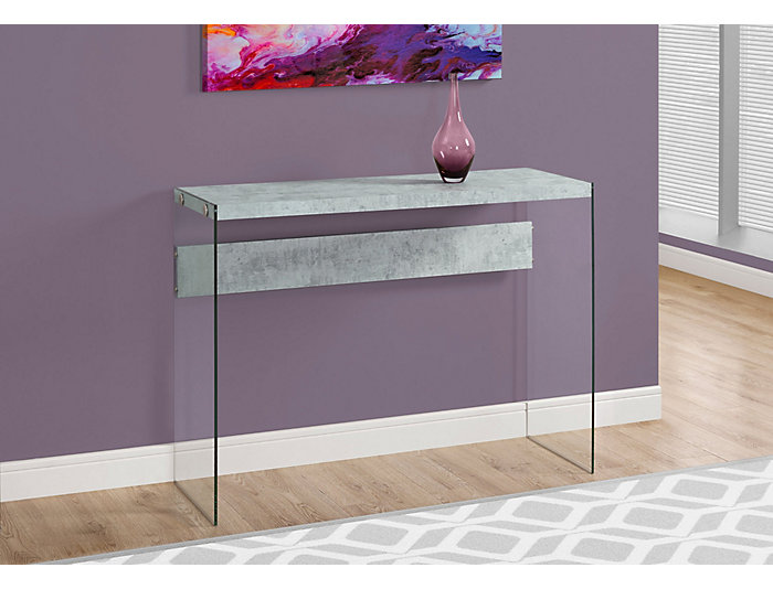 Lily Cement Console Table, Grey, , large