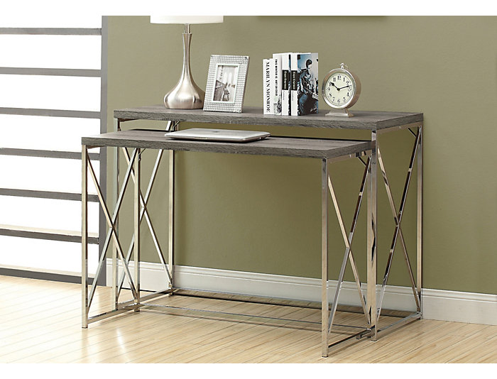Jo Taupe Nesting Console Table, Taupe, , large