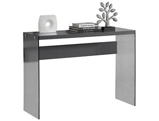 Lily Gloss Console Table, Grey, , large