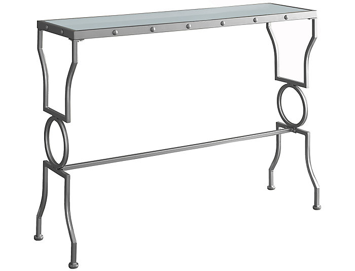 Lydia Silver Console Table, , large