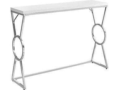 Faron White Sofa Table, , large
