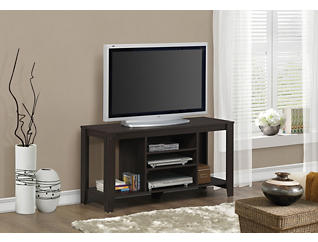 """Eva 48"""" Cappuccino TV Stand, Brown, large"""