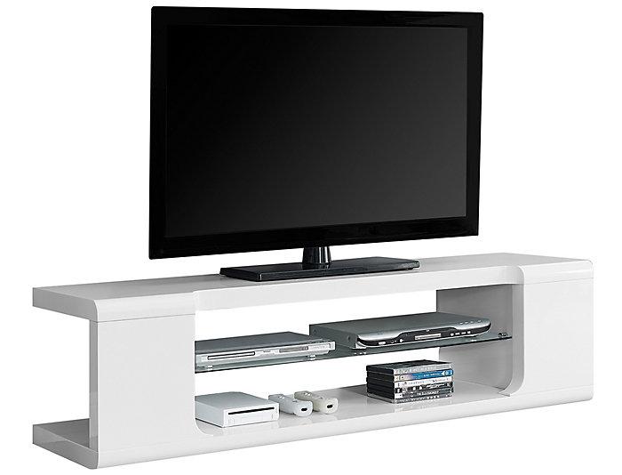 Lula 60 Glossy White Tv Stand