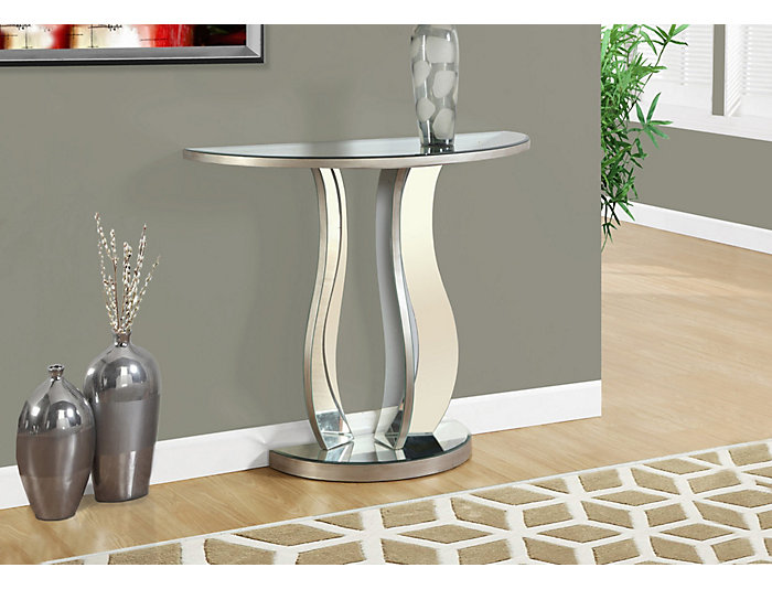 Curves Mirror Console Table, , large