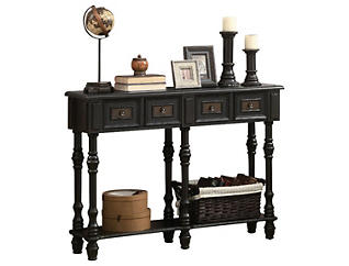 """Nora 48"""" Console Table, Black, , large"""