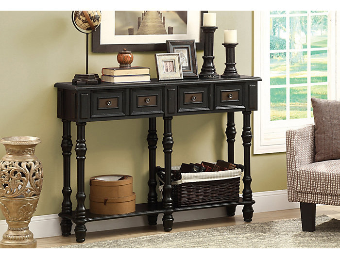 Incredible Nora 48 Console Table Black Ncnpc Chair Design For Home Ncnpcorg