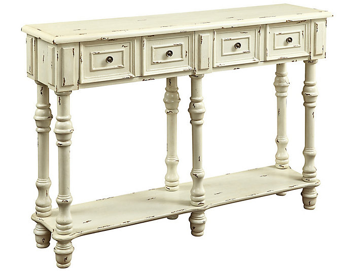 """Nora 48"""" White Console Table, , large"""