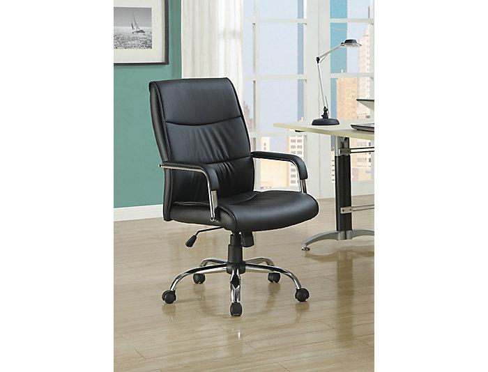 Amelia Black Armed Desk Chair, , large