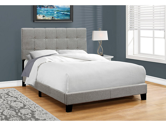 Grey Linen Full Bed, , large