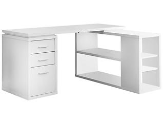 Irma White Corner Desk, , large
