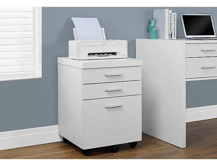Lily White Filing Cabinet, , large