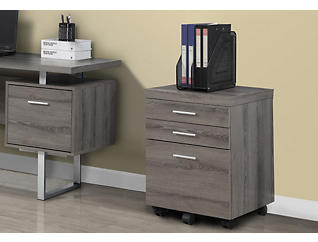 Lily Taupe Filing Cabinet, , large