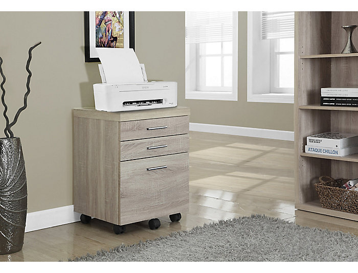 Lily Beige Filing Cabinet, , large