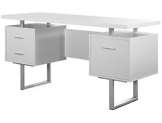Petunia White Desk, , large