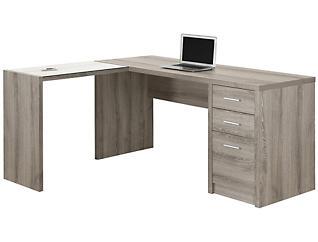 Ludo Taupe Corner Desk, , large