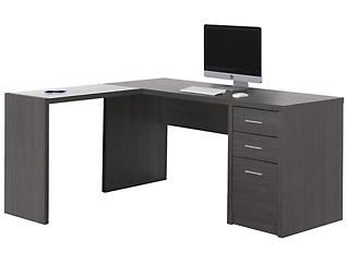 Ludo Grey Corner Desk, , large