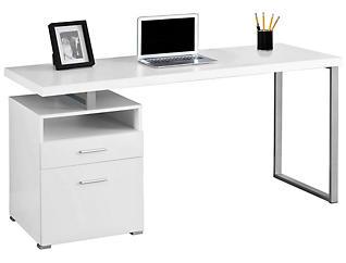 """Remus 60"""" White Desk, , large"""
