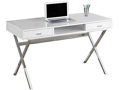 Oliver White Desk, , large