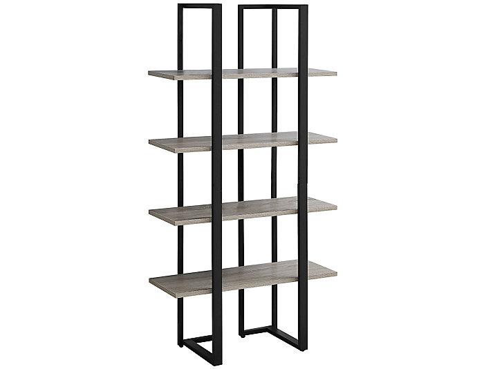 "Bellatrix 60"" Taupe Bookcase, , large"