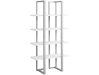 """Bellatrix 60"""" White Bookcase, , large"""
