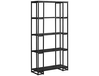 "Ginny 60"" Black Bookcase, , large"