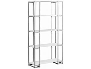 "Ginny 60"" White Bookcase, , large"