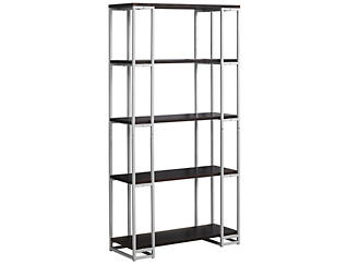 "Ginny 60"" Brown Bookcase, , large"
