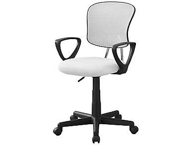 Molly White Desk Chair, , large