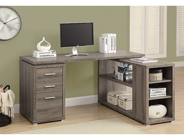 Irma Taupe Corner Desk, , large