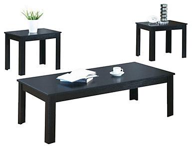Ryan 3 Piece Coffee Set, Black, , large