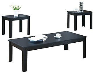 Ryan 3 PC Black Coffee Set  sc 1 st  Art Van Furniture : black coffee and end table set - pezcame.com