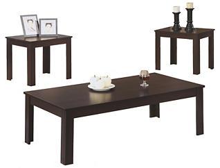 Ryan 3 Piece Coffee Set, Brown, , large