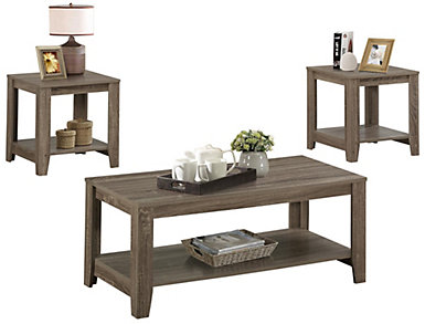 Max Dark Taupe 3 Piece Coffee Table Set, , large
