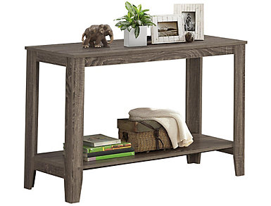 """Erica 44"""" Taupe Console Table, , large"""