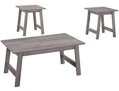 Neil 3 Piece Coffee Table Set, Grey, , large