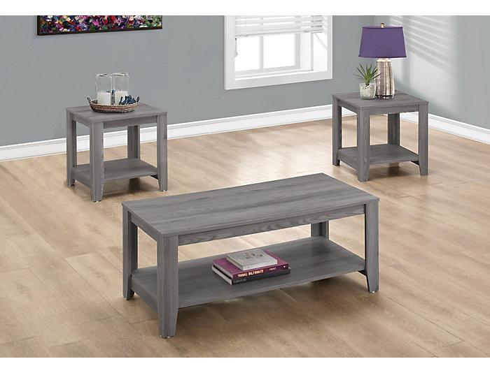 Noah 3 Piece Coffee Table Set, Grey, , large