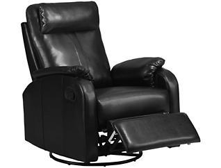 Ed Leather Recliner, Black, , large