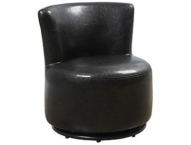 Noah Swivel Kid's Chair, Brown, , large