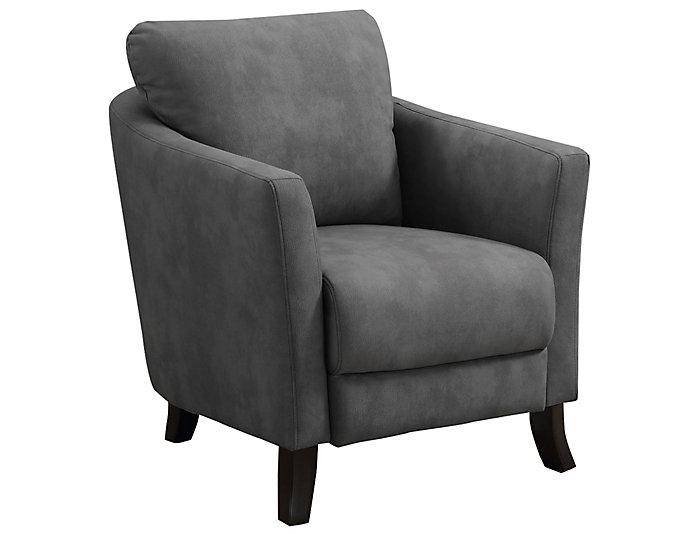 Nanon Grey Microfiber Chair  large  sc 1 st  Art Van & Nanon Grey Microfiber Chair   Art Van Home