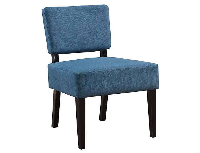 Perle Blue Armless Chair