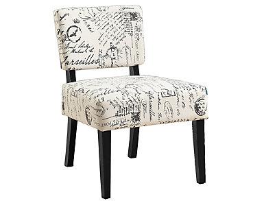 Perle Script Armless Chair, , large