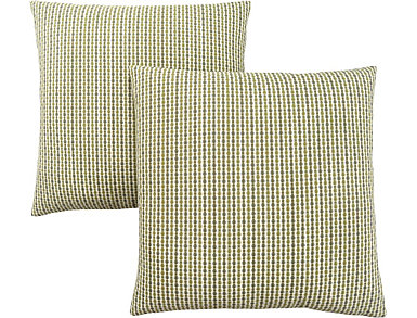 Dot Green Pillow (Set of 2), , large