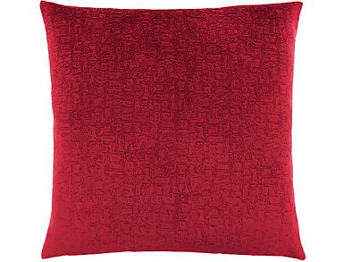 Mosaic Red 18x18 Pillow, , large