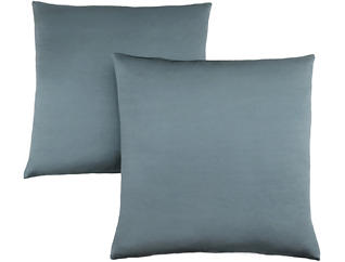 Satin Blue Pillow (Set of 2), , large