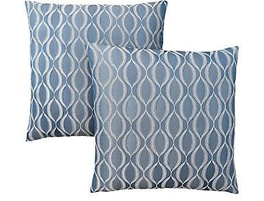 Wave Blue Pillow (Set of 2), , large