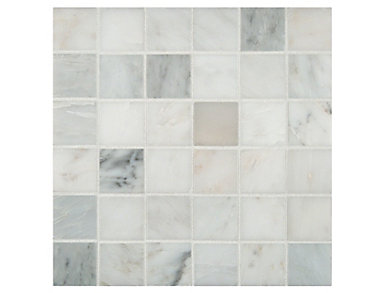 Arabescato Carrara Honed in Mesh 12 in. x 12 in. Marble Wall Tile $12.48/ sq. ft (10 sq. ft / case), , large