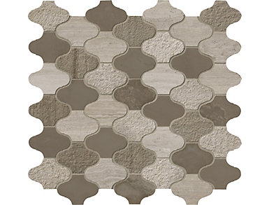 Arctic Storm Arabesque  Mesh-Mounted Mosaic 12 in. x 12.6 in. Marble Floor and Wall Tile $27.98/ sq. ft (10.5 sq. ft / case), , large